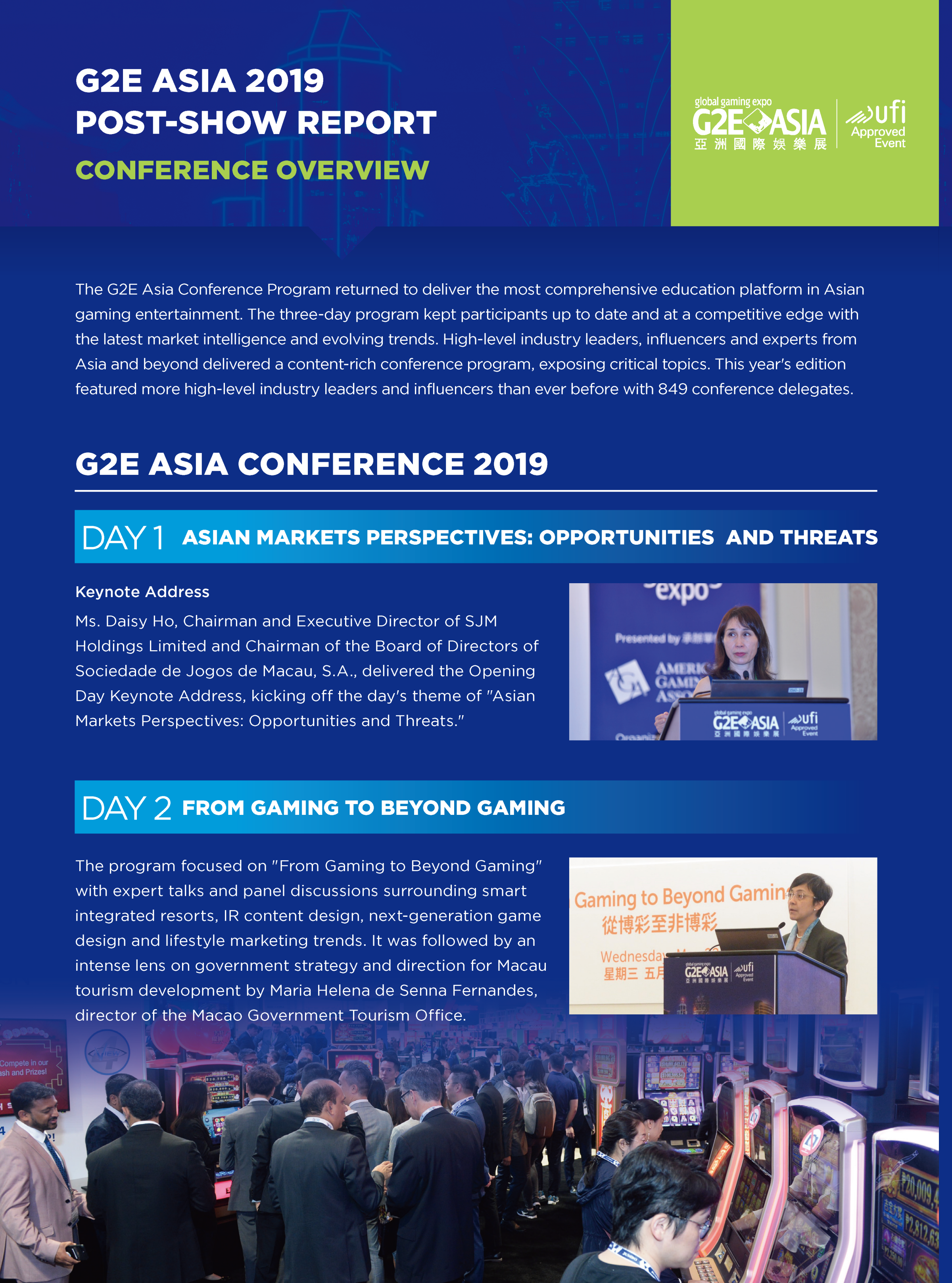 G2E Asia 2019 CONFERENCE OVERVIEW
