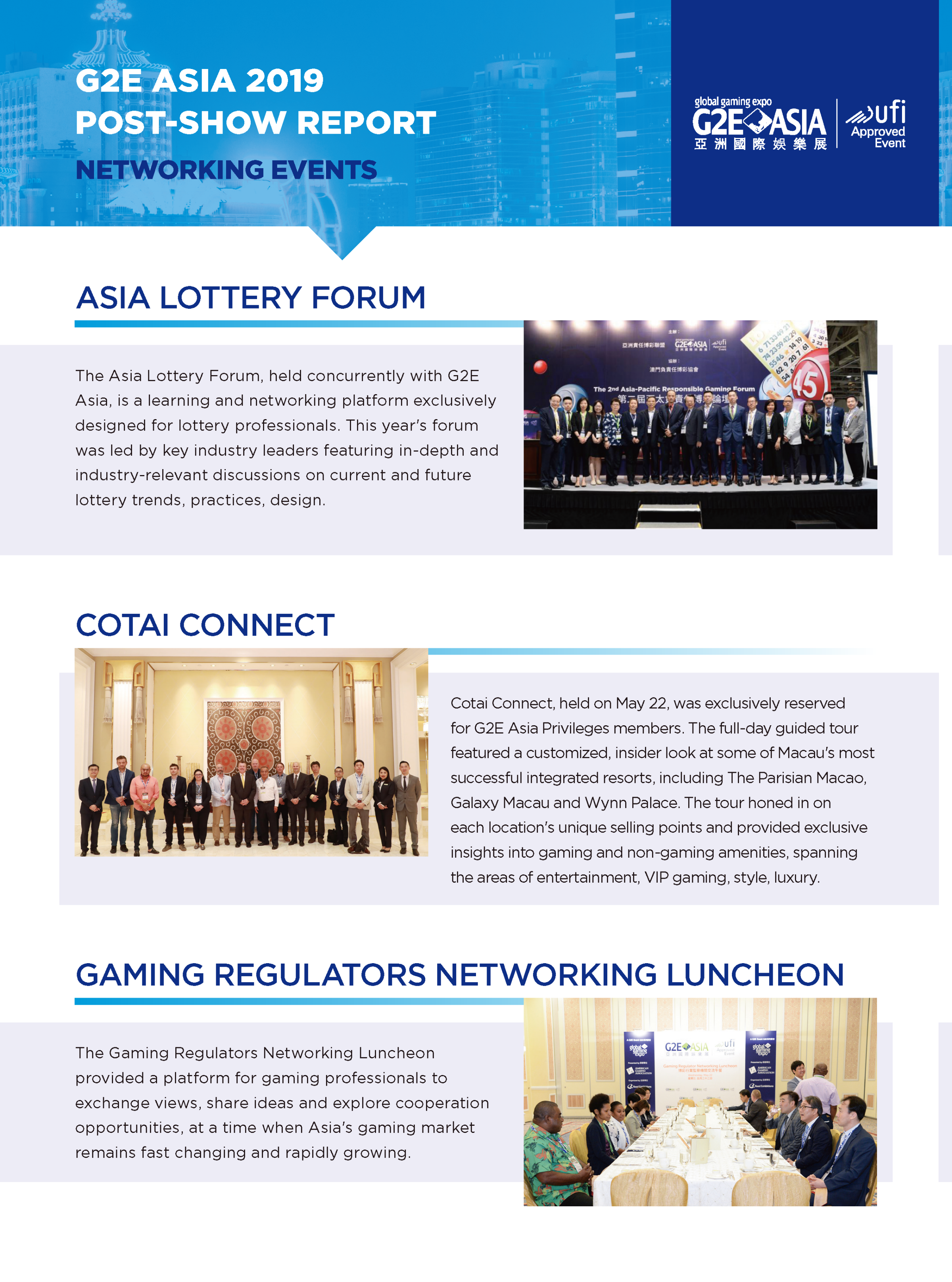 G2E Asia 2019 NETWORKING EVENTS